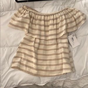 Striped off the shoulder shirt *New with tags*